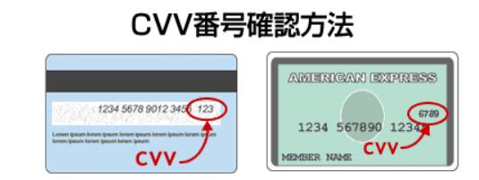 CVV確認方法