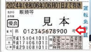 運転免許番号