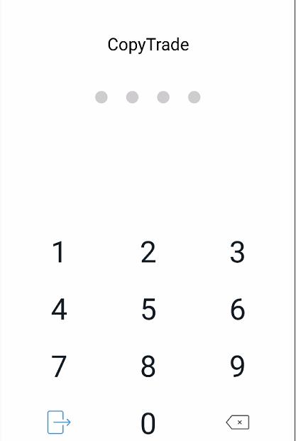 「PIN」の入力画面