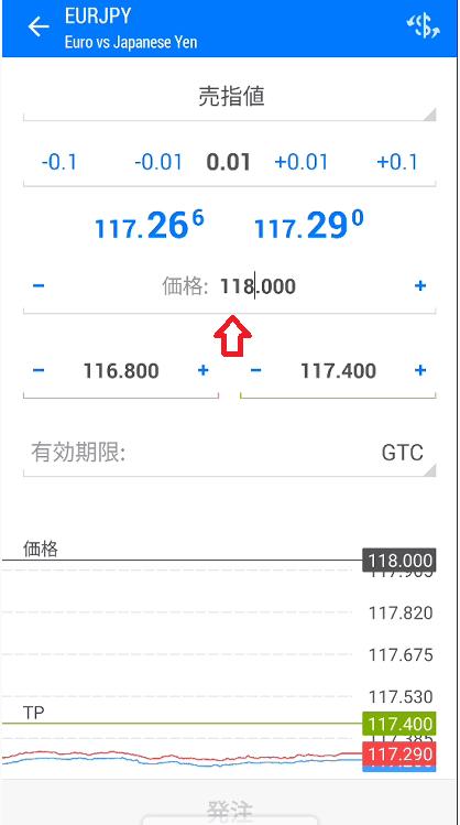 価格を118.000