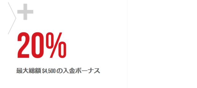20%入金ボーナス