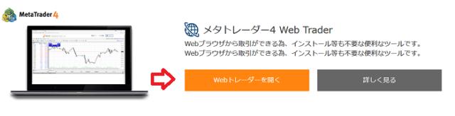 Web Traderを開くというボタン