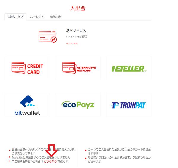 決済サービス画面